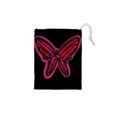 Red butterfly Drawstring Pouches (XS)