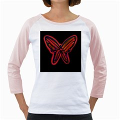 Red butterfly Girly Raglans