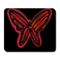 Red butterfly Large Mousepads