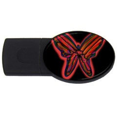 Red butterfly USB Flash Drive Oval (1 GB)