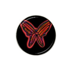Red butterfly Hat Clip Ball Marker (4 pack)
