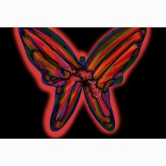 Red butterfly Collage Prints