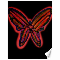 Red butterfly Canvas 36  x 48