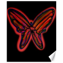 Red butterfly Canvas 11  x 14