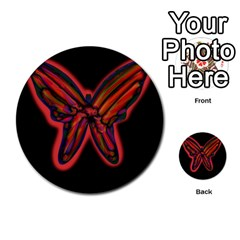 Red butterfly Multi-purpose Cards (Round)