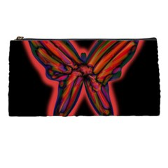 Red butterfly Pencil Cases