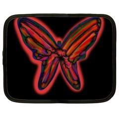 Red butterfly Netbook Case (XL)