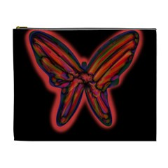 Red butterfly Cosmetic Bag (XL)