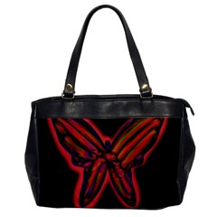 Red butterfly Office Handbags