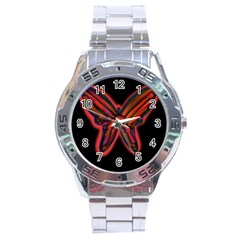 Red butterfly Stainless Steel Analogue Watch