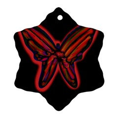 Red butterfly Snowflake Ornament (2-Side)