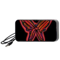 Red butterfly Portable Speaker (Black)