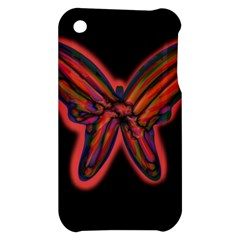 Red butterfly Apple iPhone 3G/3GS Hardshell Case