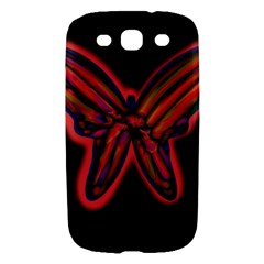 Red butterfly Samsung Galaxy S III Hardshell Case
