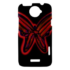 Red butterfly HTC One X Hardshell Case