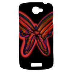 Red butterfly HTC One S Hardshell Case