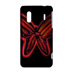 Red butterfly HTC Evo Design 4G/ Hero S Hardshell Case