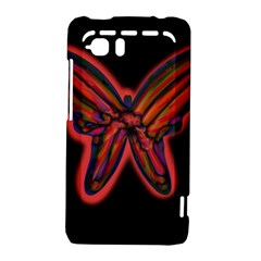 Red butterfly HTC Vivid / Raider 4G Hardshell Case