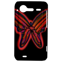 Red butterfly HTC Incredible S Hardshell Case