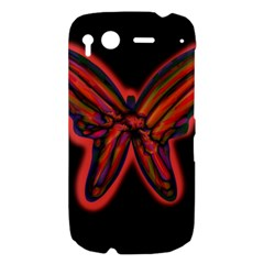 Red butterfly HTC Desire S Hardshell Case
