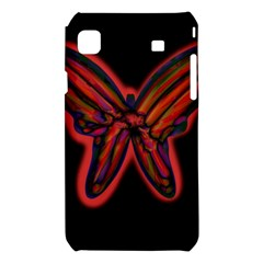 Red butterfly Samsung Galaxy S i9008 Hardshell Case