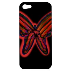 Red butterfly Apple iPhone 5 Hardshell Case