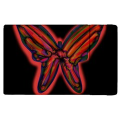 Red butterfly Apple iPad 2 Flip Case