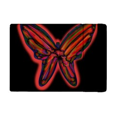 Red butterfly Apple iPad Mini Flip Case