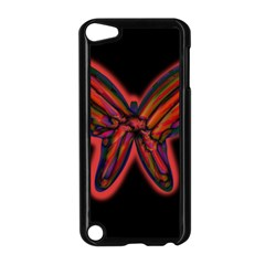Red butterfly Apple iPod Touch 5 Case (Black)