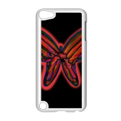 Red butterfly Apple iPod Touch 5 Case (White)