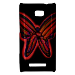 Red butterfly HTC 8X