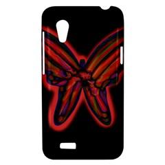 Red butterfly HTC Desire VT (T328T) Hardshell Case