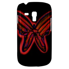 Red butterfly Samsung Galaxy S3 MINI I8190 Hardshell Case