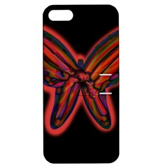 Red butterfly Apple iPhone 5 Hardshell Case with Stand