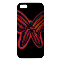 Red butterfly Apple iPhone 5 Premium Hardshell Case