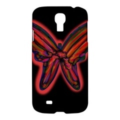 Red butterfly Samsung Galaxy S4 I9500/I9505 Hardshell Case