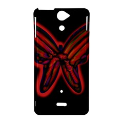 Red butterfly Sony Xperia V