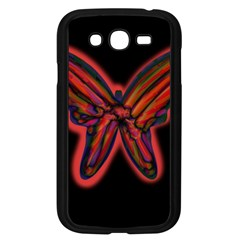 Red butterfly Samsung Galaxy Grand DUOS I9082 Case (Black)