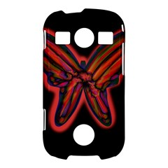 Red butterfly Samsung Galaxy S7710 Xcover 2 Hardshell Case