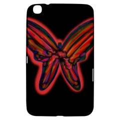 Red butterfly Samsung Galaxy Tab 3 (8 ) T3100 Hardshell Case