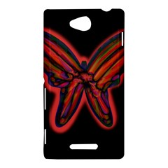 Red butterfly Sony Xperia C (S39H)