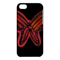 Red butterfly Apple iPhone 5C Hardshell Case