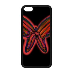 Red butterfly Apple iPhone 5C Seamless Case (Black)