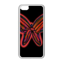 Red butterfly Apple iPhone 5C Seamless Case (White)