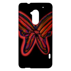 Red butterfly HTC One Max (T6) Hardshell Case