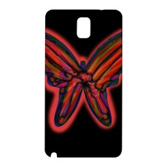 Red butterfly Samsung Galaxy Note 3 N9005 Hardshell Back Case