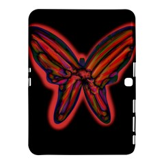 Red butterfly Samsung Galaxy Tab 4 (10.1 ) Hardshell Case