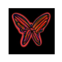 Red butterfly Small Satin Scarf (Square)
