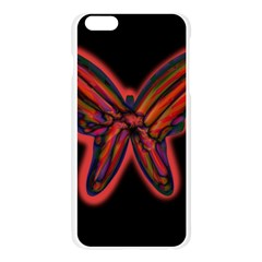 Red butterfly Apple Seamless iPhone 6 Plus/6S Plus Case (Transparent)