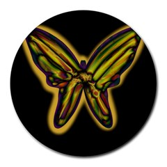 Night butterfly Round Mousepads